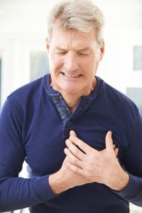 Mature Man Suffering Heart At Home