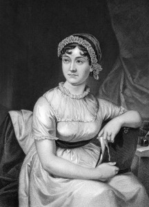 Jane Austen (1775-1817) on engraving from 1873. English novelist. Engraved by unknown artist and published in ''Portrait Gallery of Eminent Men and Women with Biographies'',USA,1873.