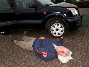 Car accident dead body