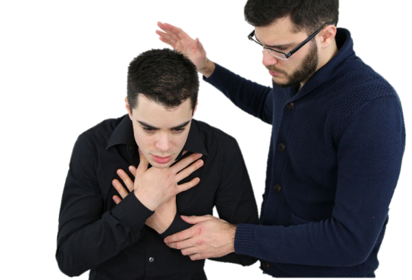 First aid for male choking