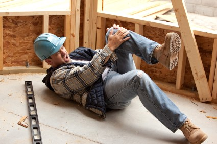 Worker requiring first aid trained help at work