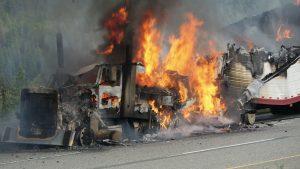 Fiery Crash